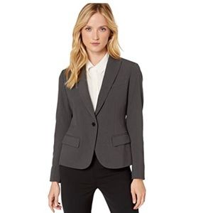 Anne Klein One Button Gray Blazer  size 14